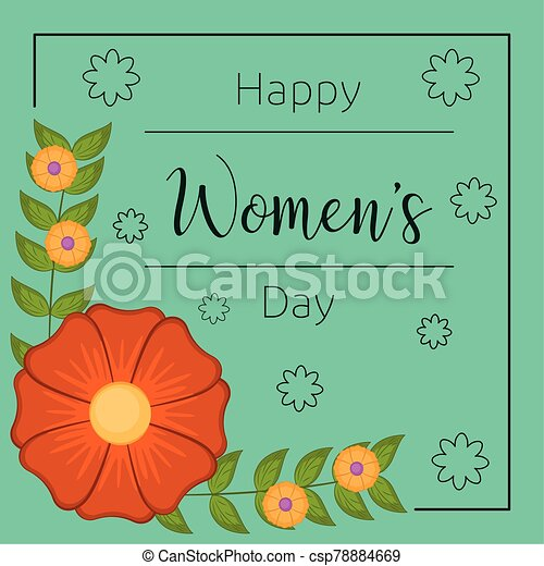 día, tarjeta, feliz, womens - csp78884669