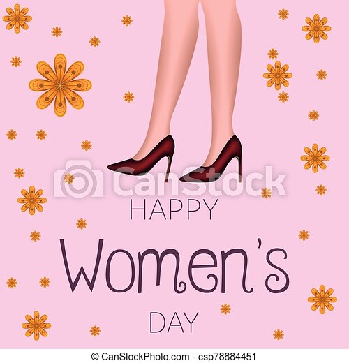 día, tarjeta, feliz, womens - csp78884451