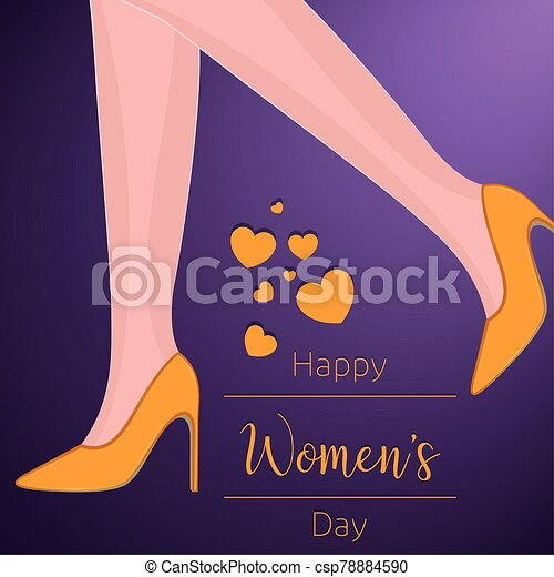 día, tarjeta, feliz, womens - csp78884590