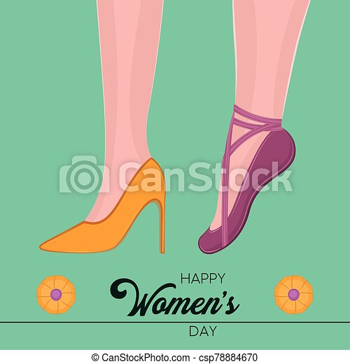 día, tarjeta, feliz, womens - csp78884670