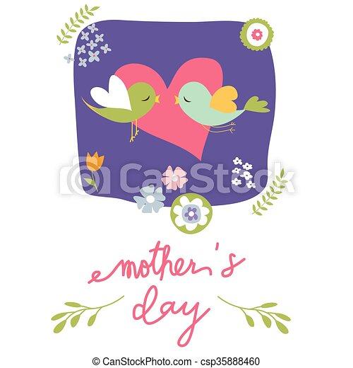 La tarjeta del día de la madre - csp35888460