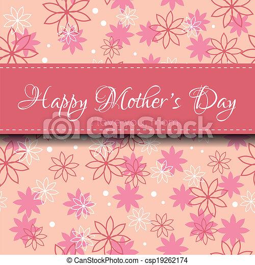 La tarjeta del día de la madre - csp19262174