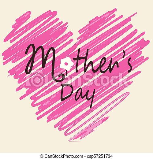 La tarjeta del día de la madre - csp57251734