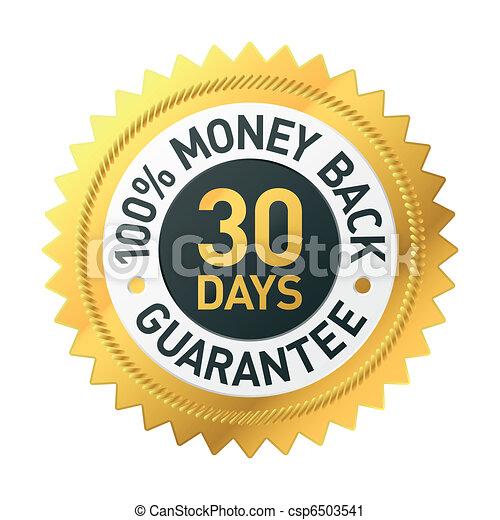 30 días de dinero garantizando la etiqueta - csp6503541