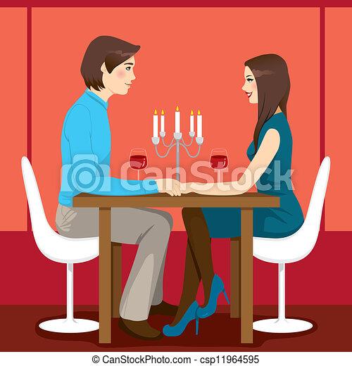 dîner, romantique, anniversaire - csp11964595