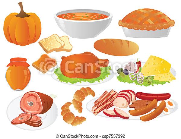 dîner, thanksgiving - csp7557392