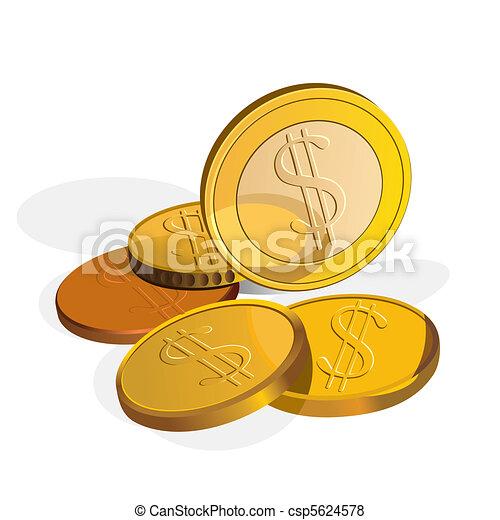 Un dólar de Vector - csp5624578