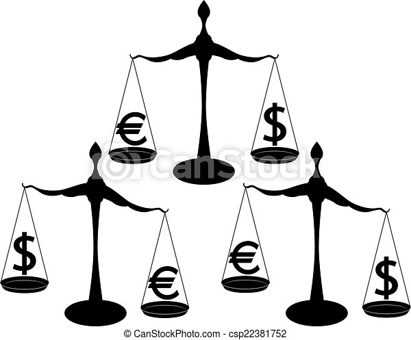 Euro dólar - csp22381752