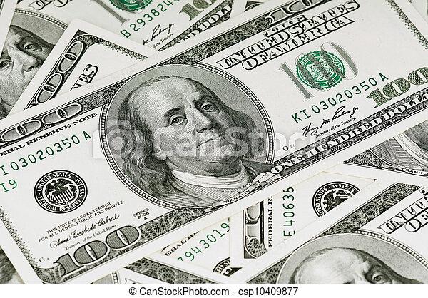 dólares, fundo - csp10409877