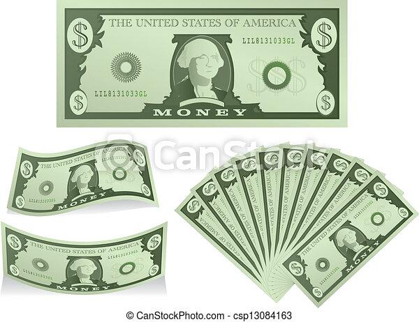 dólares - csp13084163