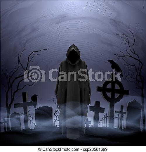 död, kyrkogård, ängel - csp20581699