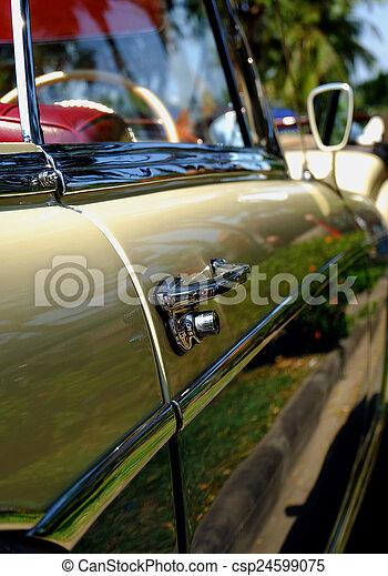 dörr, bil, handtag - csp24599075