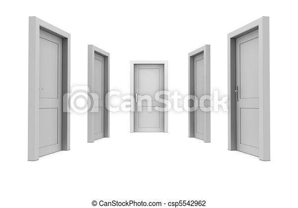 dörr, välja, grå - csp5542962