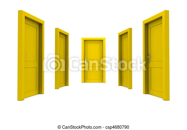 dörr, välja, gul - csp4680790