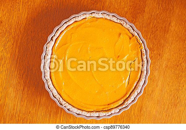 dýně, jídlo, pečení, straka, dort, pomeranč - csp89776340