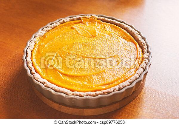 dýně, jídlo, pečení, straka, dort, pomeranč - csp89776258