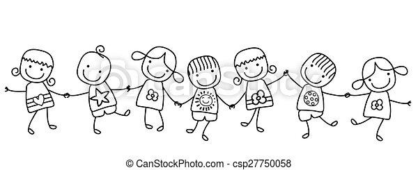 děti, šťastný - csp27750058