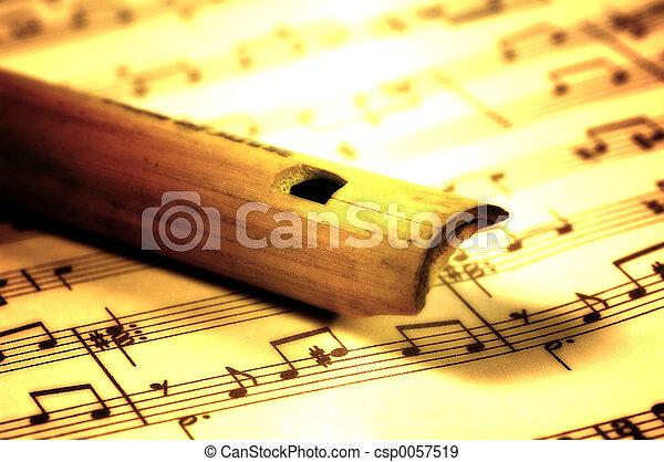 dřevěný, flétna - csp0057519