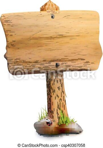 dřevěný, ukazovat, svobodný, čistý - csp40307058
