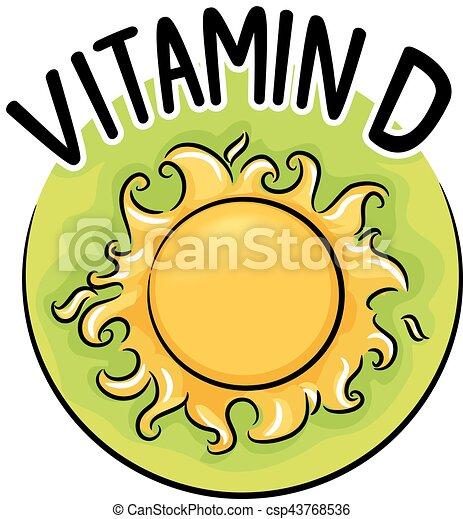 d, ビタミン, アイコン - csp43768536