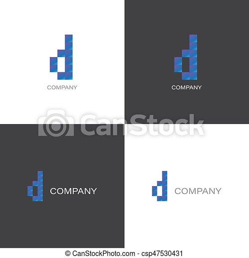 D letter company Logo - csp47530431