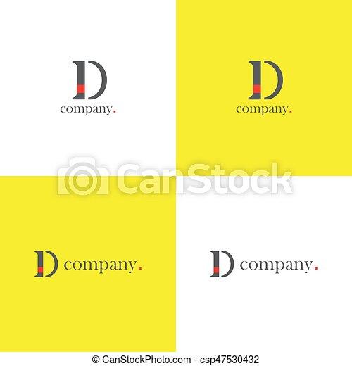 D letter company Logo - csp47530432