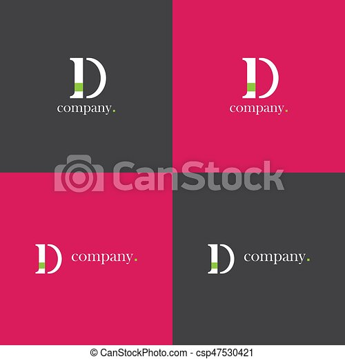 D letter company Logo - csp47530421