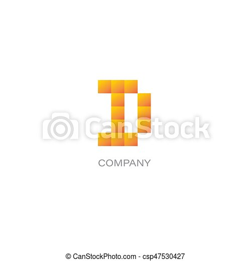 D letter company Logo - csp47530427