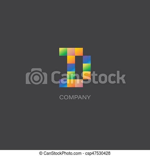 D letter company Logo - csp47530428