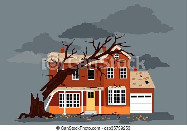 daño, tormenta - csp35739253