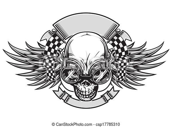 da corsa, cranio - csp17785310