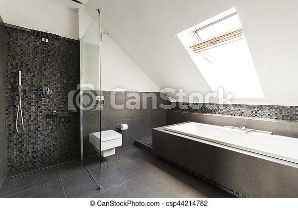 Dachgeschoss, badezimmer. Dachgeschoss, stilvoll, badezimmer ...