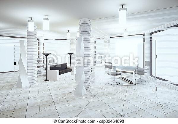 Dachgeschoss Buero Boden Windows Licht Modern Farben Weisses