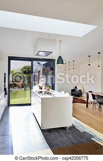 Dachgeschoss Küche dachgeschoss modern üppig küche blick rgeöffnete bild