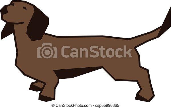 Dachshund dog vector illustration - csp55996865