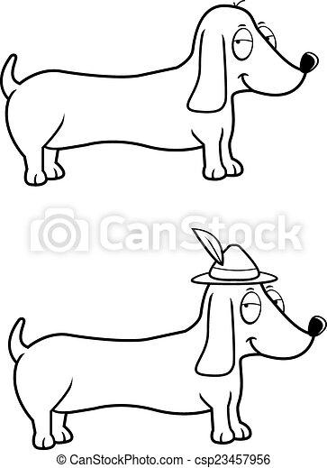 Dachshund Oktoberfest A Happy Cartoon Dachshund Dog With An