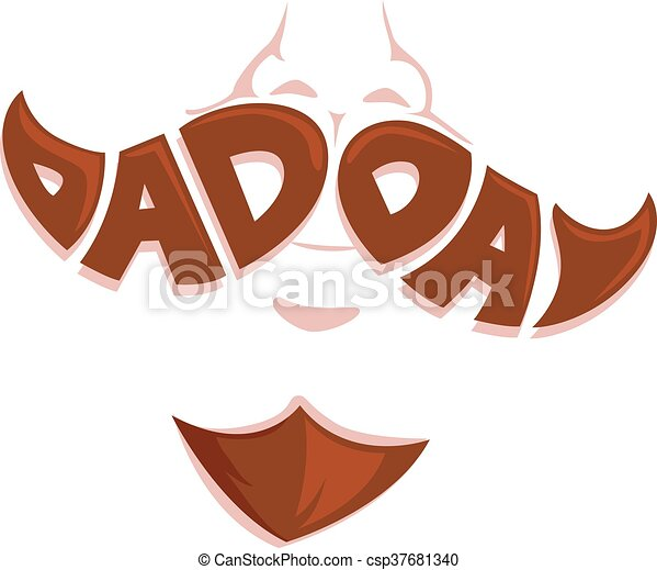 Dad Day Mustache Face - csp37681340
