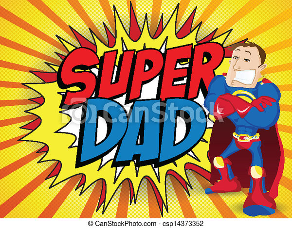 Super hombre héroe papá. Feliz día del padre - csp14373352