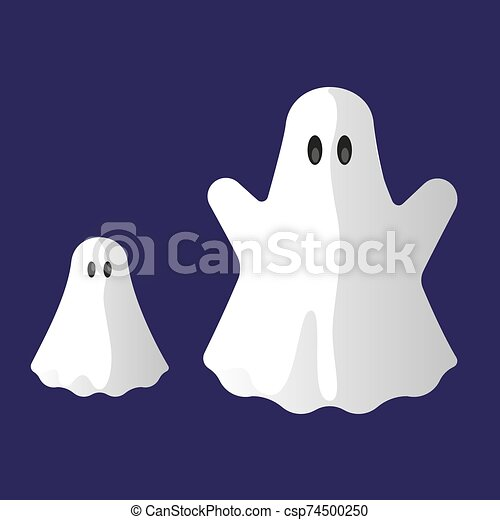Daddy and baby phantom as isolated icons. - csp74500250