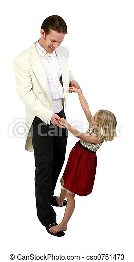 Daddy and Daughter dancing in formals - csp0751473