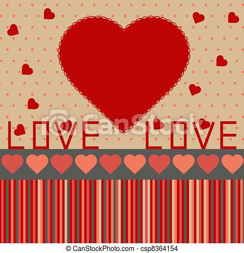 dag, baggrund, valentine's - csp8364154