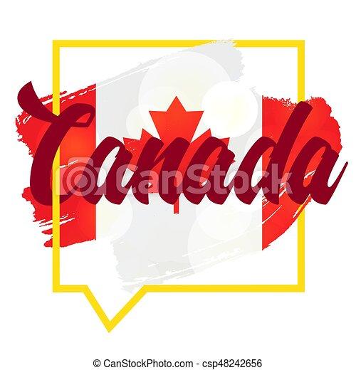 Dag canada, glade. Canada, jule, banner., holiday., vektor ...