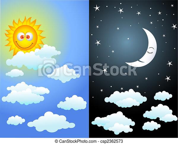 dag, nacht - csp2362573