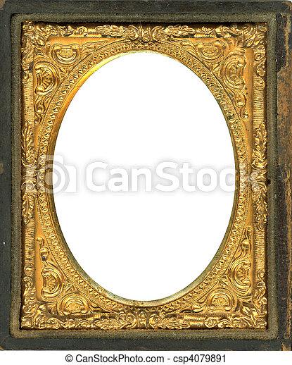 Daguerreotype frame - csp4079891