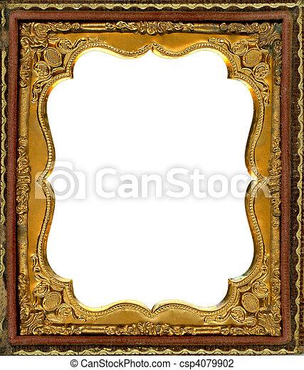Daguerreotype frame - csp4079902