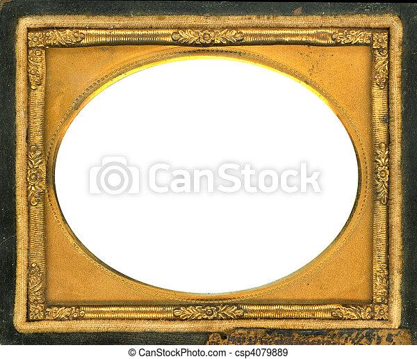 Daguerreotype frame - csp4079889