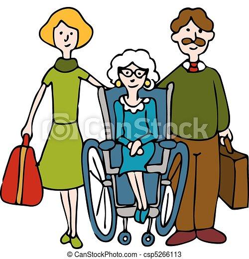 daheim, älter, bewegen, krankenpflege - csp5266113
