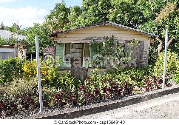 daheim, barbuda, antigua, typisch - csp15648140