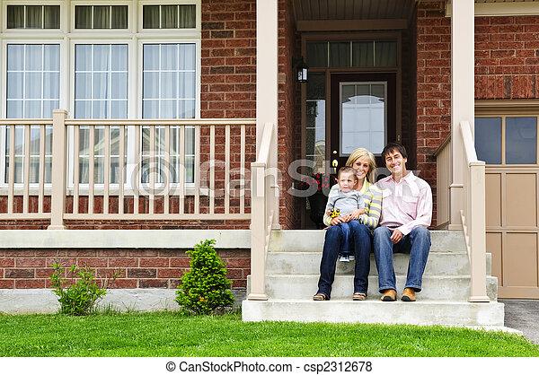 daheim, familie, glücklich - csp2312678