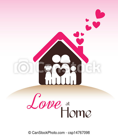 daheim liebe rosa liebe aus abbildung vektor hintergrund daheim. Black Bedroom Furniture Sets. Home Design Ideas